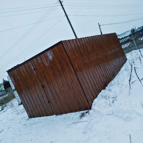 Garaż blaszany / blaszak / drewnopodobny 6m x 3m Rynna 4m gratis!!!