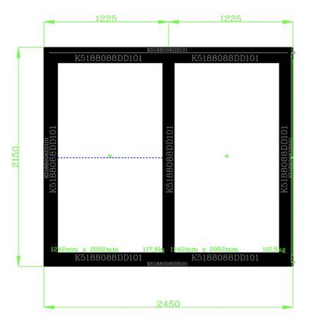 Б/у Оконо-раздвижная система с тройным стеклопакетом