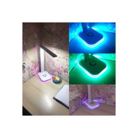 Настольная лампа с RGB подсветкой