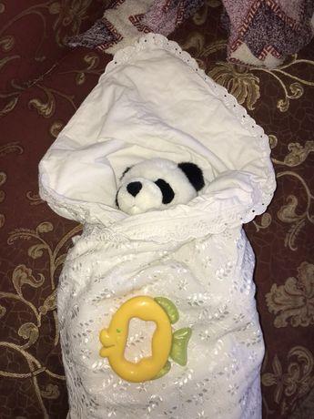 Одеяло одеялко детское и конверт на выписку + подарок