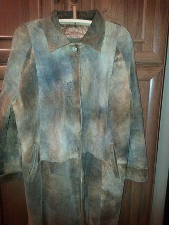 СРОЧНО кожаное утепленное пальто Р 56-58