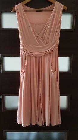 Sukienka ciążowa i do karmienia Oxyd różowa