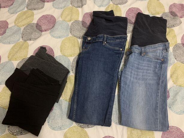 Spodnie leginsy ciążowe H&M MAMA L 42