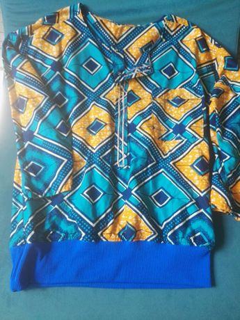 Kolorowa cienka bluza bawełniana