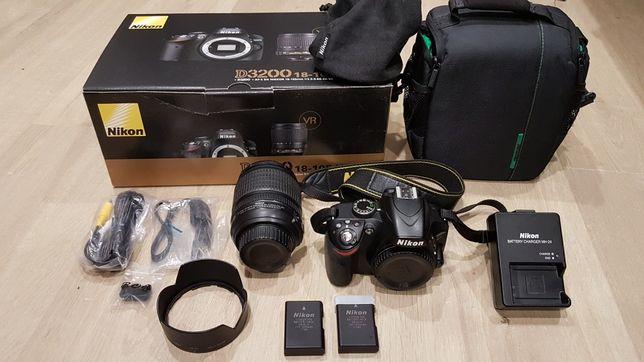 Lustrzanka Nikon D3200 obiektyw Nikkor 18-105mm