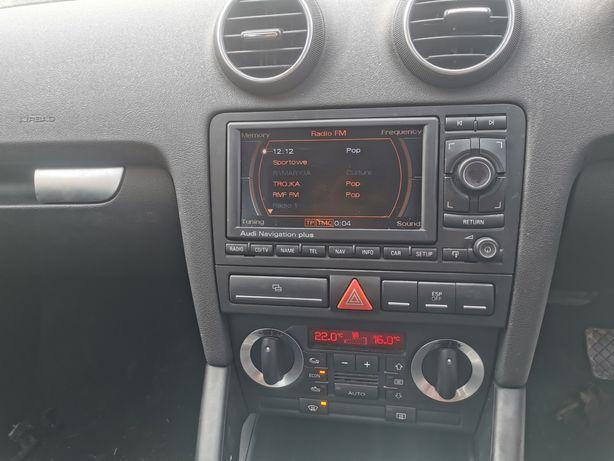 Radio Audi RNS A3 8P SWAP 2DIN Kosz Klimatronik Ramka!