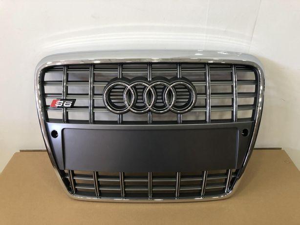 Решетка радиатора Audi A6 C6 S6 04-11г ауді решотка решітка s6 10г с6