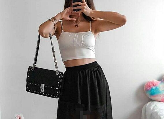 Czarna tiulowa spódniczka
