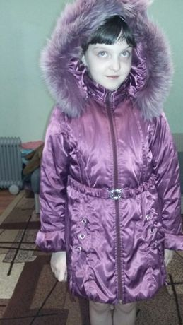 куртка зима (размер 36 на 7-9 лет) 500 рублей