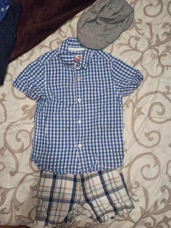 Рубашки, шорты, поло 2-3года
