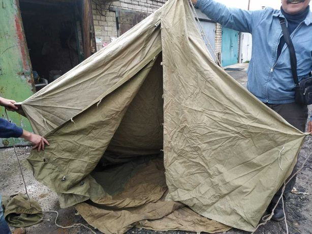 Военная палатка в хорошем состоянии