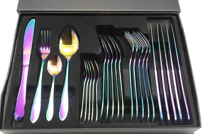 Набор столовых предметов A-PLUS Rainbow радуга ложки