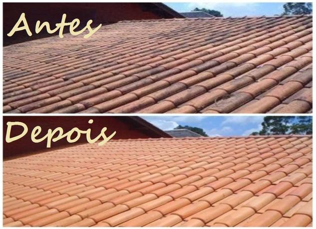 Lavagem de telhados e impermeabilização