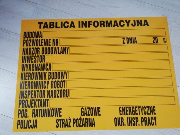 Tablica informacyjna budowlana