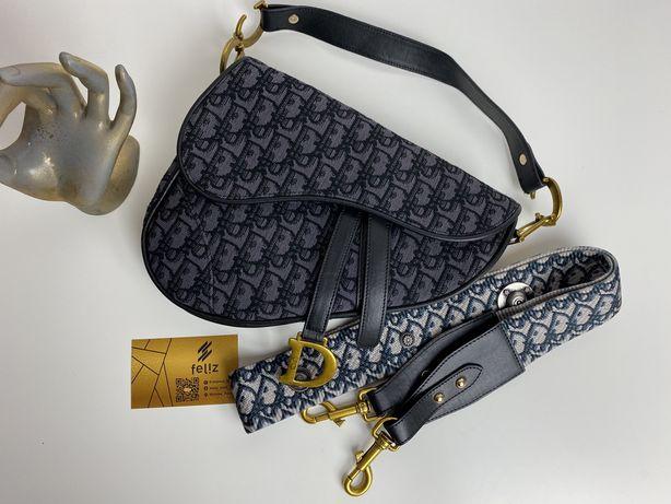 Torebka damska Dior Saddle premuim monogram w pudełku