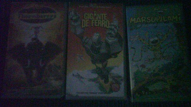 Conjunto de 4 Cassetes VHS - Filmes infantis