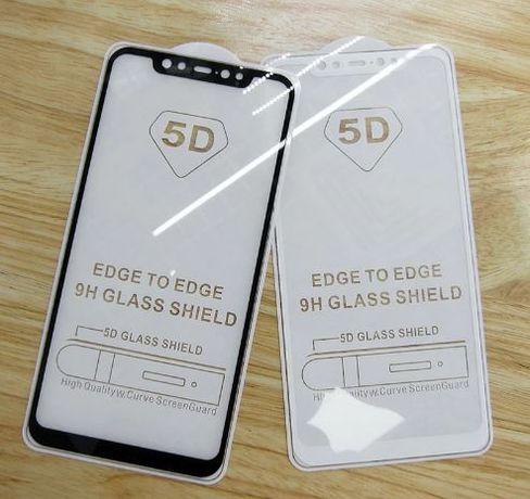 Защитное стекло 3D 5D Samsung А7 A8 2018 plus A9 Huawei Y6 Y7 Y9 Xiaom
