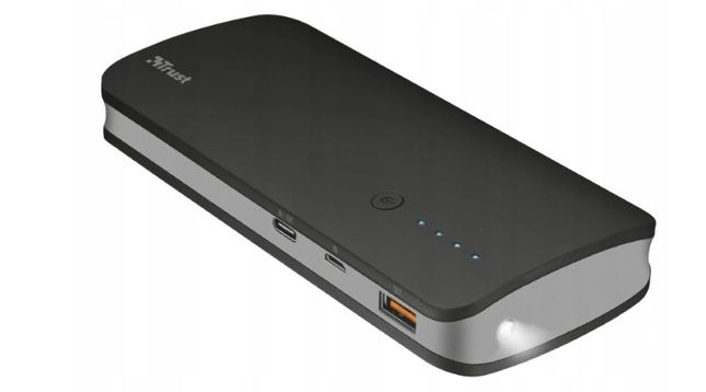 Powerbank Trust Omni Ultrafast. Quick Charge 3.0. 10 000 mAh. 3 porty.