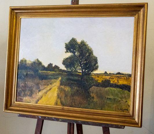 "Pintura a óleo ""Paisagem rural"""