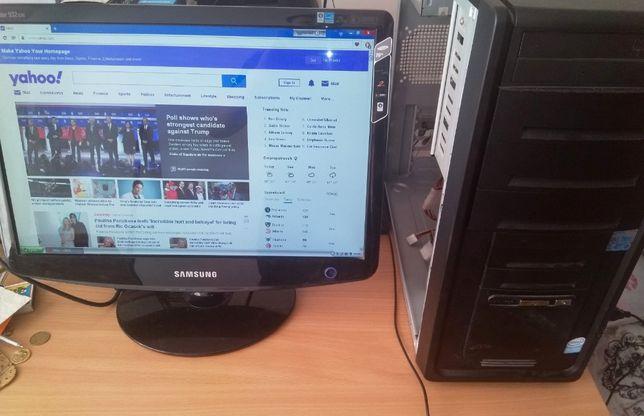 Компьютер Intel E2140/ 2 DDR2/160 Gb + монитор Samsung 932GW