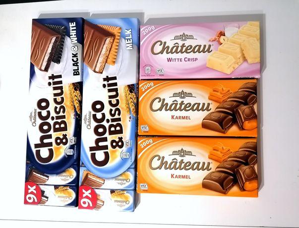 Chateau czekolady czekolada biała z chrupkam karmel karmelowa batoniki
