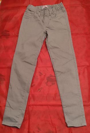 Spodnie jeans dżinsy skinny dziewczęce 11-12 lat rozm. 152 szary jasny