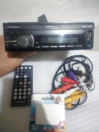 Автомагнитола SHUTLE 7060  с выдвиным экраном и навигацией