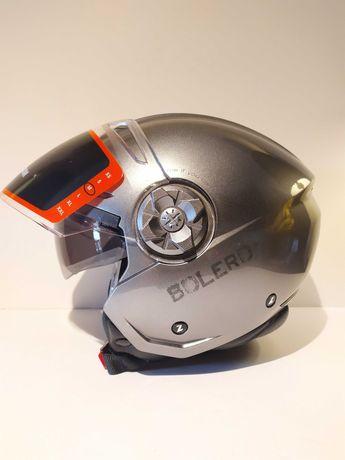 Capacete Lazer Bolero Dupla-viseira aberto scooter mota novo