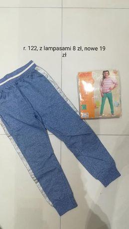 spodnie lampasy r. 122