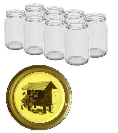 słoiki 0,9 z zakrętką *pszczoły* ule* miód* domowe przetwory