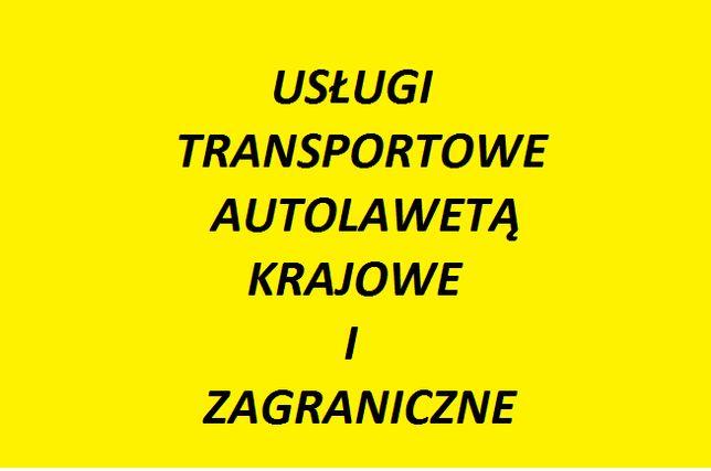 Transport Autolawetą krajowy i zagraniczny ATRAKCYJNA CENA