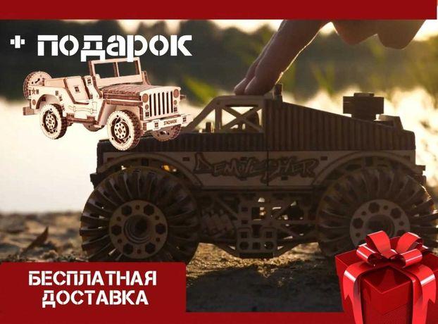 ДЖИП В ПОДАРОК! Механический конструктор Монстр-Трак