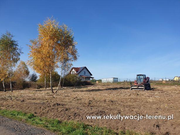 Wycinka zarośli krzaków karczowanie działek koszenie łąk mulczer