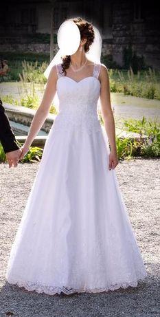 Suknia Ślubna koloru białego