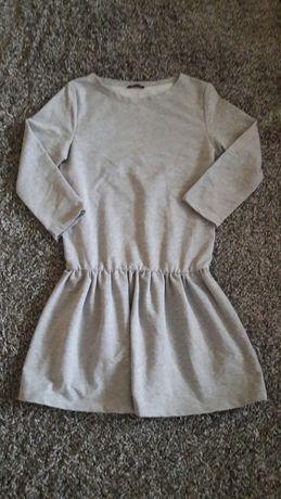 Sukienka szara dresowa roz 36
