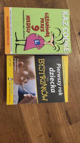 Książki Ciężarówką przez 9 miesięcy i Pierwszy Rok Dziecka dla Bystrza