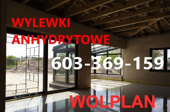 Posadzki, wylewki anhydrytowe WOLPLAN. PROMOCJA LETNIA cena od 37zl