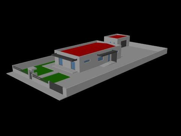 Moradia de construção moderna a construir com projeto