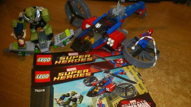Lego 76016 Spider-Helicopter Rescue 76016
