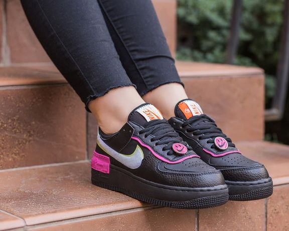 "Кроссовки Nike Nike Air Force Shadow ""Black/Pink"" женские"