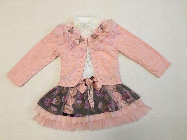 Нарядное платье с пиджаком для девочки. Распродажа!