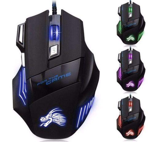 Новая Компьютерная Мышка Игровая 7 Кнопок 5500 DPI Подсветка Мышь