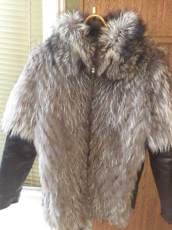 Продам куртку мех чернобурка