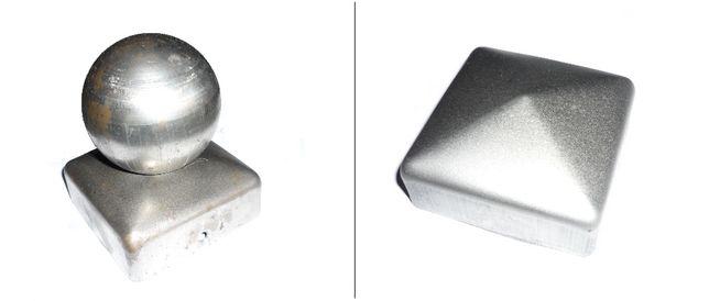 Daszek kopertowy kwadratowy 72x72mm z kulą lub bez kuli.