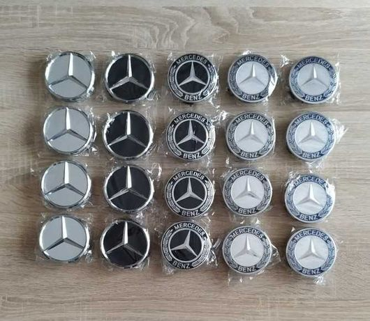 Conjunto 4 centros tampas jantes Mercedes 75mm