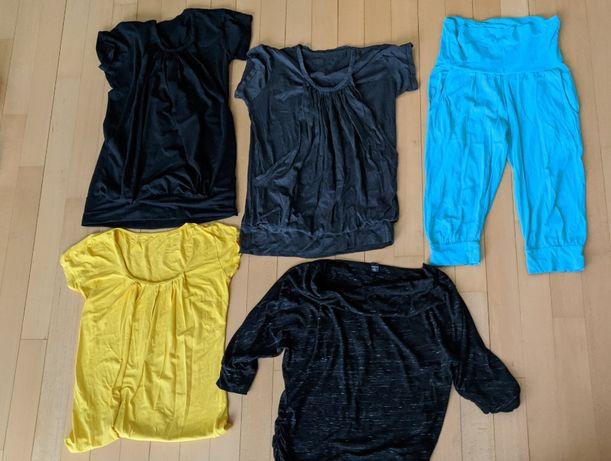 Koszulki bluzki zestaw ciążowe i do karmienia M L