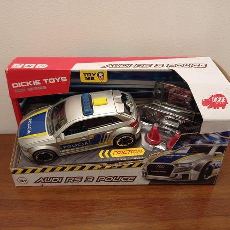 Dickie Toys Policja AUDI RS3, Policyjny radiowóz z dźwiękiem