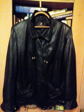 Кожаная куртка 54размер