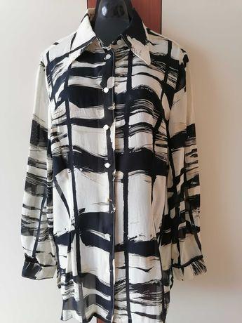 Koszula biało czarna   ---  r  --   44