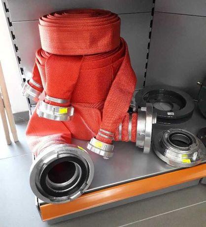 Wąż strażacki z szybkozłączkami RED 110/20m nawadnianie upraw